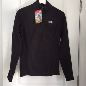 The North Face Glacier Black 1/4 zip fleece.